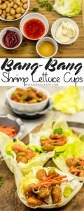 Bang Bang Shrimp Lettuce Cups are the perfect low carb option for gatherings or a light finger food snack. Healthy appetizer recipe with a kick! #GlutenFree #Whole30 #lowcarb #appetizer #bangbangshrimp |Appetizer Recipe | Low Carb Recipe | Gluten Free Recipe | Whole30 Approved Recipe | Healthy Recipes