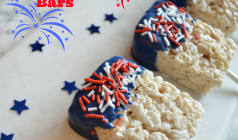 Patriotic Rice Krispie Bars