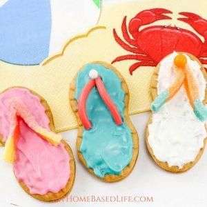 Summertime Flip Flop Cookies