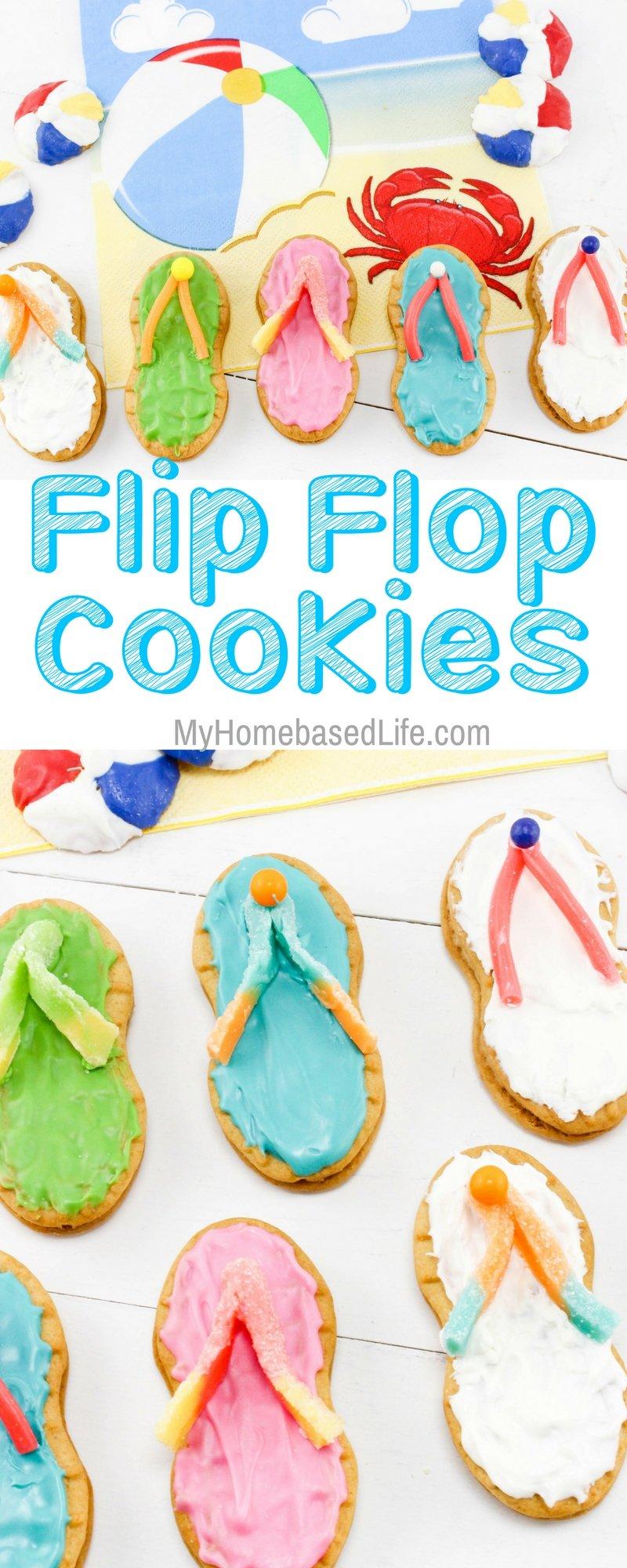 a4295cda4de0 Summertime Flip Flop Cookies