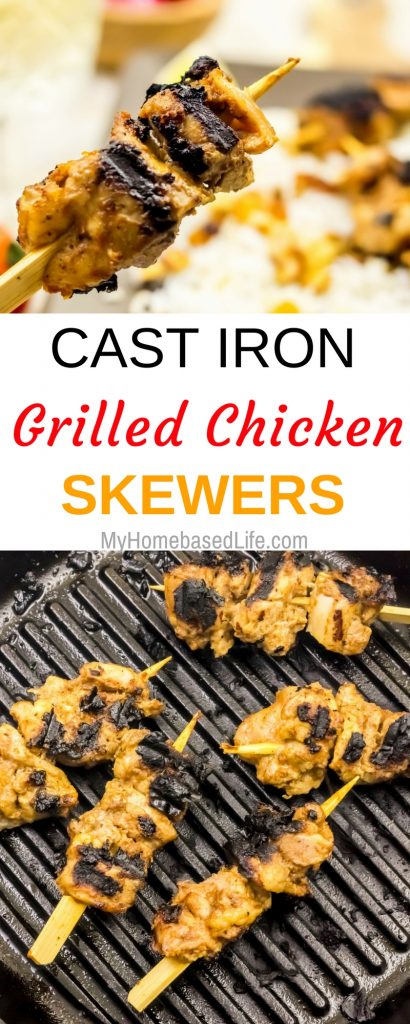 Cast Iron Grilled Chicken Skewers
