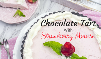 Chocolate Tart with Strawberry Mousse Recipe