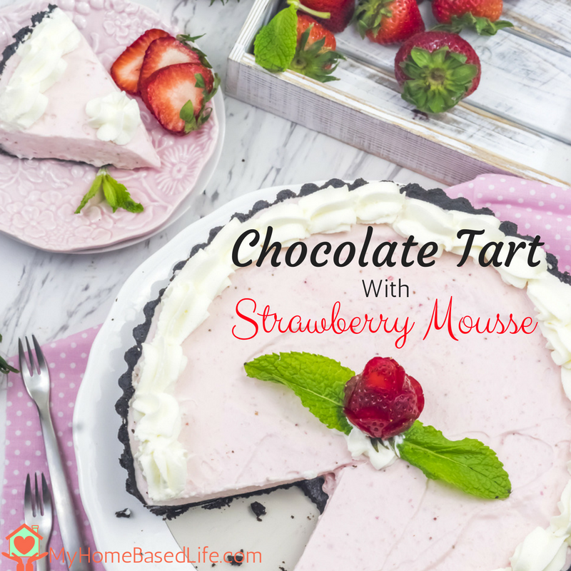 Chocolate Tart with Strawberry Mousse