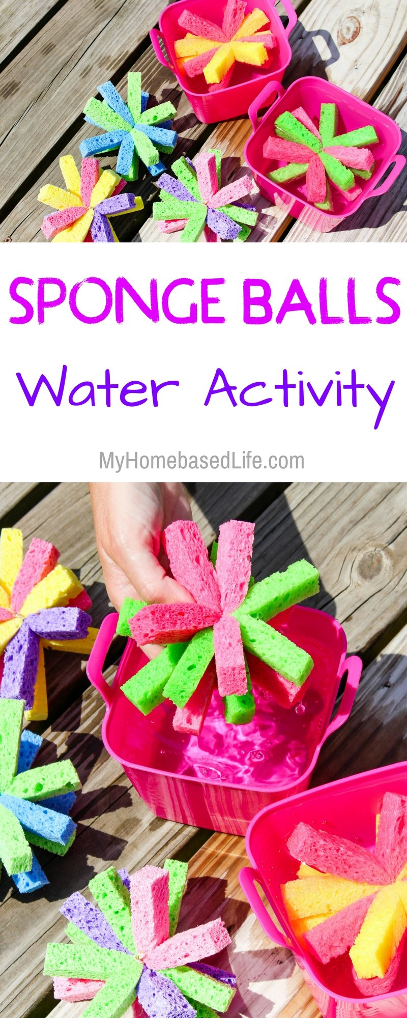 Summer Water Games just got more exciting! Sponge Soaker Balls are the perfect kid's summer DIY. Super simple and guaranteed a great time. #kids #summer #wateractivity #KidsDIY #Summertime | Kids DIY | Kids Craft | Simple Kids Water Activity | Parenting | Summertime Fun | Family Fun | Easy Water Activity