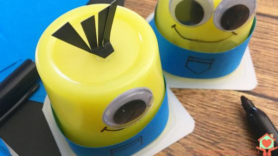 DIY Minion Pudding Cups