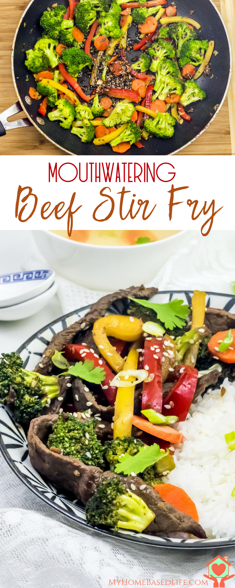 Craving a delicious, quick Beef Stir Fry for dinner? I have just the recipe for you! Ready in under 30 minutes and sure to be a family favorite. #stirfryrecipe #dinnerrecipe #beefrecipe | Dinner Recipe | Beef Recipes | Family Dinners | 30 minute Meals |Beef Stir Fry Dinner Recipe | Clean eating | Gluten Free | Paleo | Whole30 | Healthy Recipe