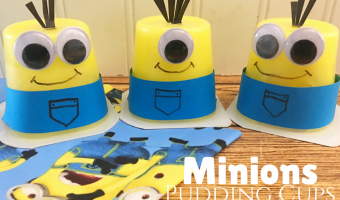 DIY Minions Pudding Cups