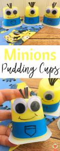 Minions Pudding Cups