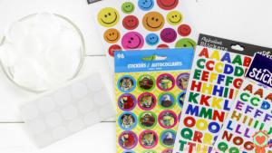 Preschool Bottle Cap Letters Matching Game