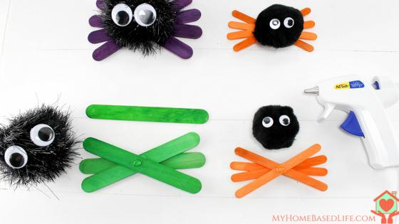 Halloween Spider Kids Craft.