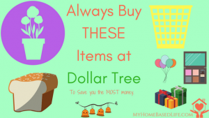 Always Buy THESE Items at Dollar Tree