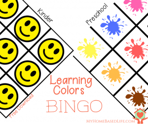 Learning Colors Bingo