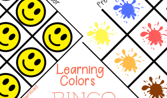 Preschool: Teach Your Child Colors with Learning Colors Bingo