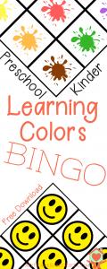 Learning Colors BINGO