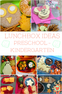 Lunchbox Ideas for Preschool or Kindergarten