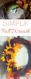 Simple Fall Wreath DIY