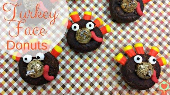 Turkey Face Donuts