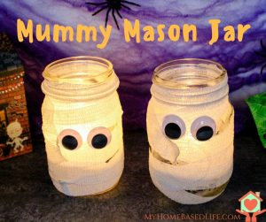 Halloween Mummy Mason Jar