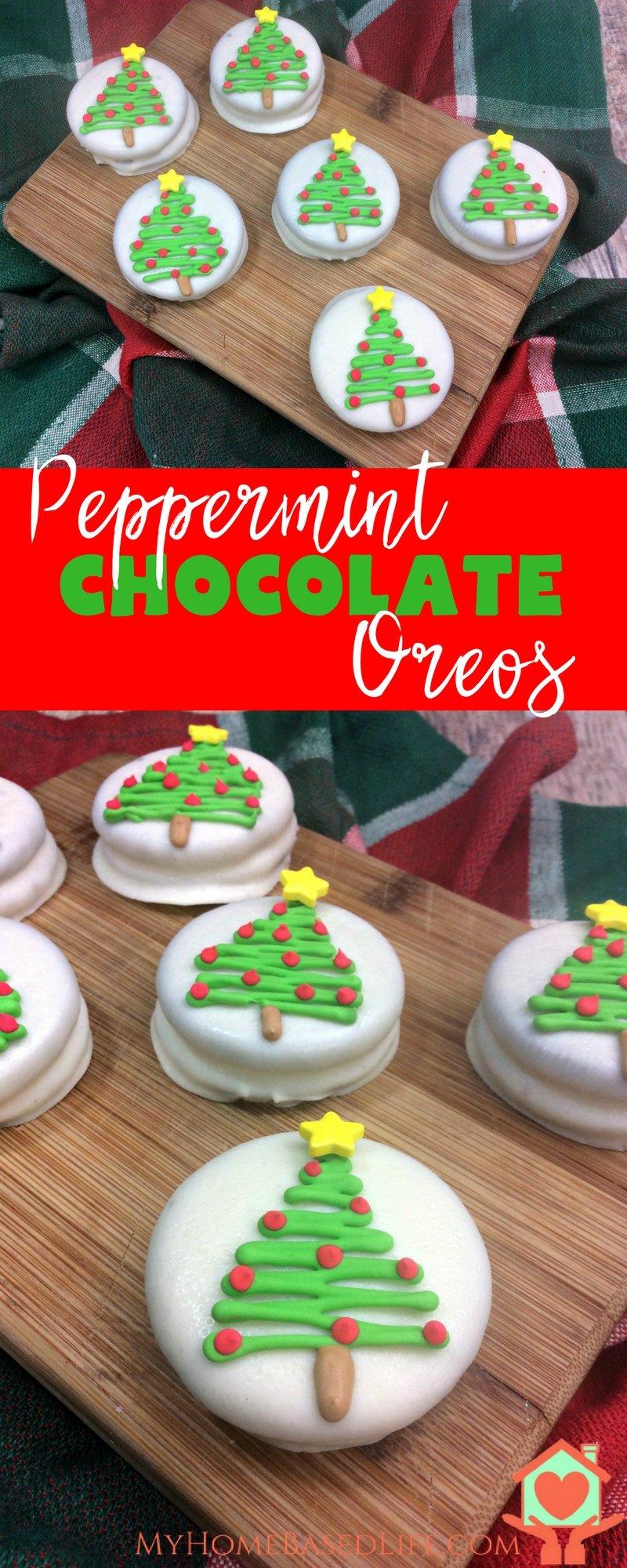 Peppermint Chocolate Oreos