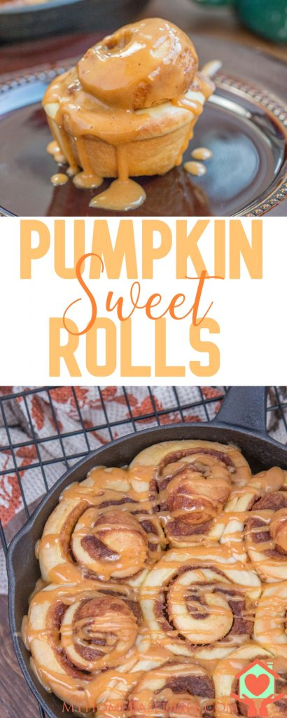 Make those fall mornings perfect by making these Pumpkin Sweet Rolls! They're simple but warm and delicious, and full of fall flavor! #pumpkinrecipes #fallrecipes #sweetrolls #cinnamonrolls #pumpkinspice #myhomebasedlife | Pumpkin Sweet Rolls | Pumpkin Breakfast Recipe | Pumpkin Recipe | Fall Breakfast | Fall Dessert | Fall Dessert Recipe | Pumpkin Dessert Recipe | Cinnamon Rolls Recipes