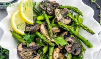 Skillet Mushroom Asparagus Recipe
