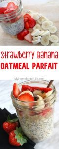 Strawberry Banana Oatmeal Parfait Recipe