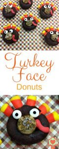 Turkey Face Donuts