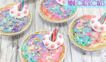 Unicorn Mini Cheesecakes Recipe