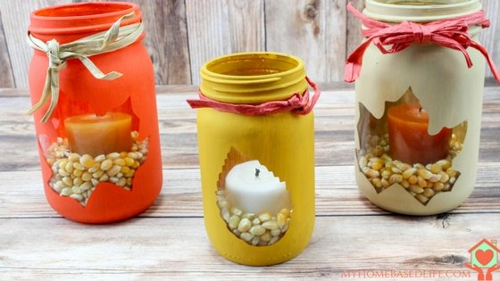 Fall Mason Jar Luminary