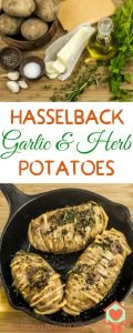 Hasselback Garlic and herb potatoes