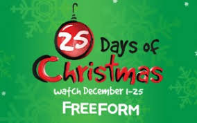 Free-form's 25 Days of Christmas TV Schedule