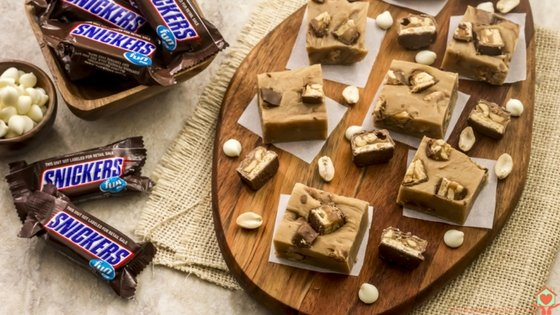 Peanut Butter Snickers Fudge