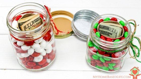 Hidden Gift Mason Jars
