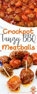 Crockpot Tangy BBQ Meatballs