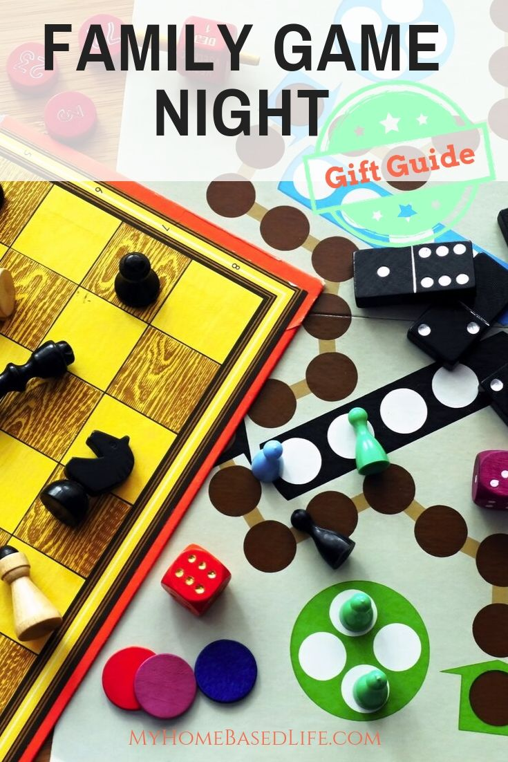 My family LOVES games. This Family Game Night Gift Guide shares our most favorite and wants for new games to play together. #myhomebasedlife #familygamenight #giftguide #hlidaygiftguide #boardgames #familygames | Gift Guide | Board Games | Family Time | Family Game Night Ideas
