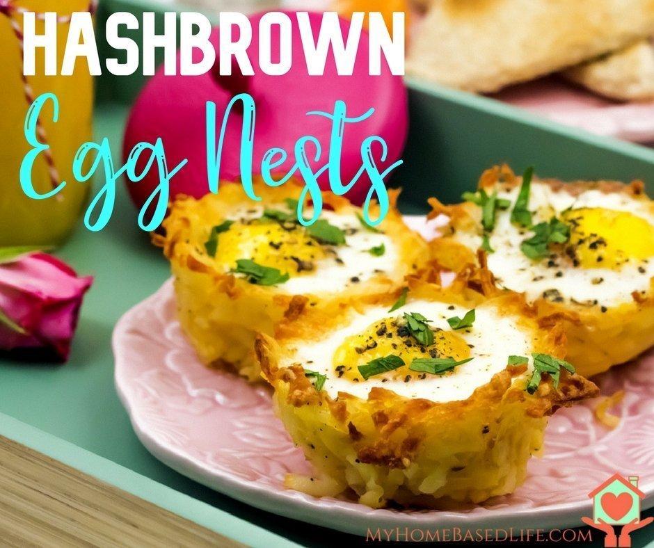 Hash Brown Egg Nests