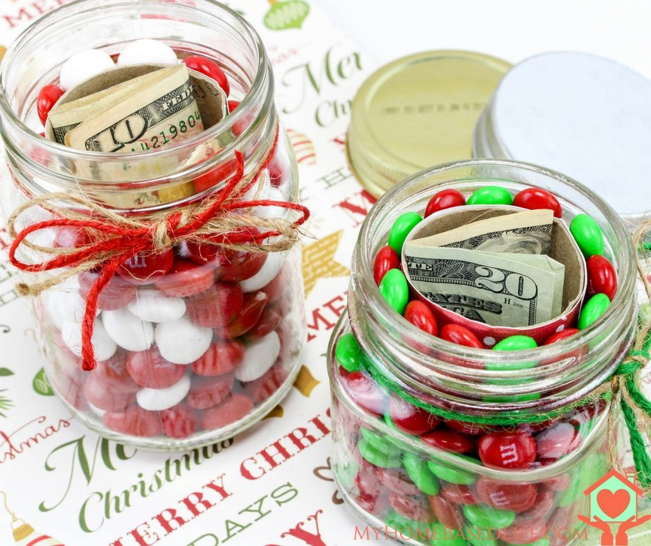 Hidden Christmas Gift Mason Jar
