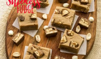Peanut Butter Snickers Fudge Recipe