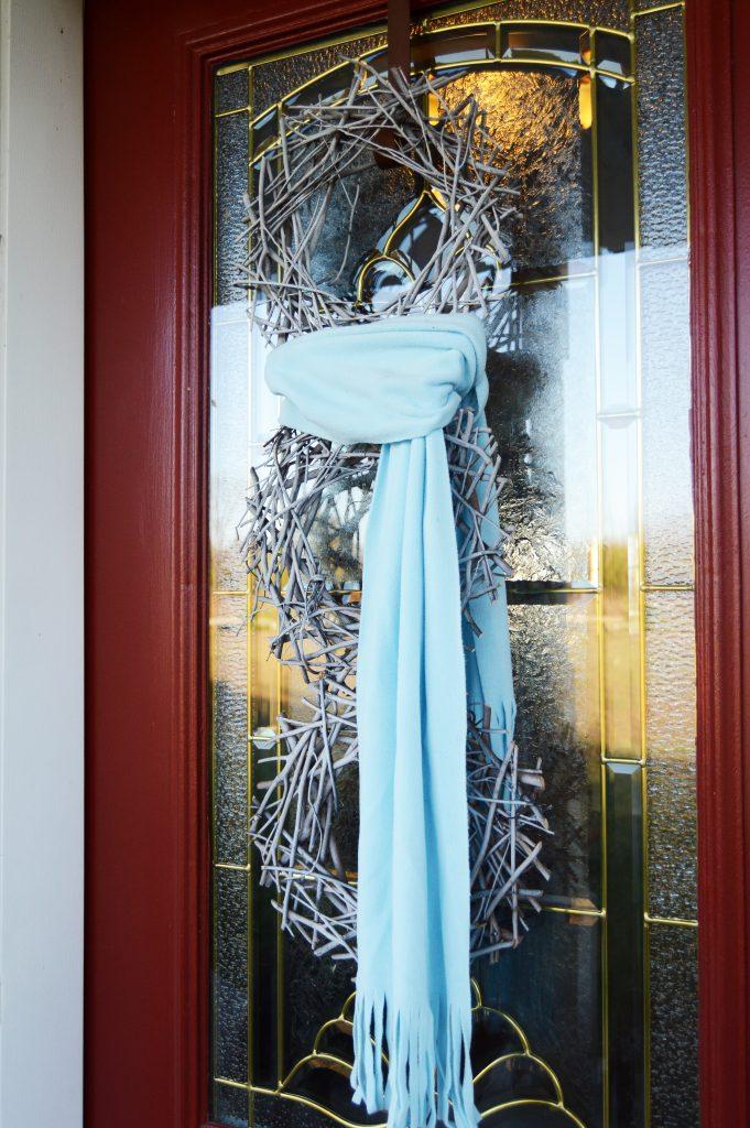 DIY Snowman Wreath