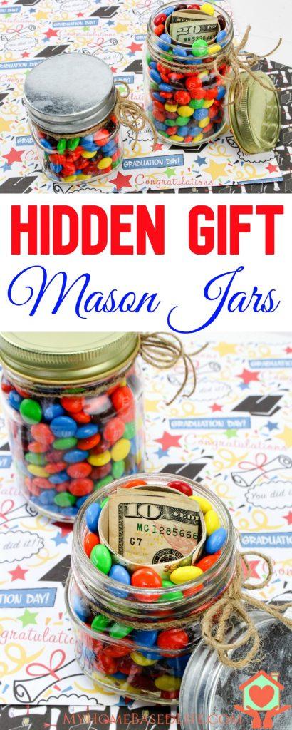 Graduation Hidden Gift Mason Jars