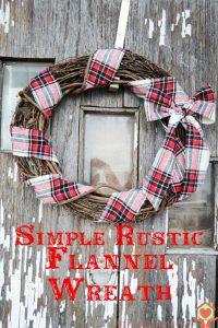 Simple Rustic Flannel Wreath