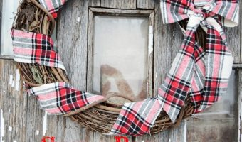 Simple Rustic Flannel Wreath DIY