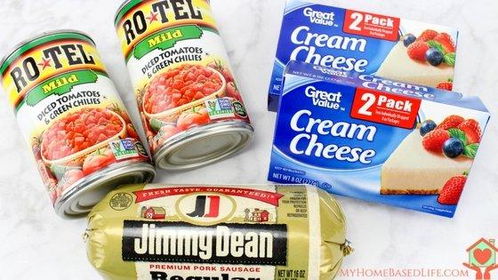 Crockpot Cheesy Sausage Dip recipe