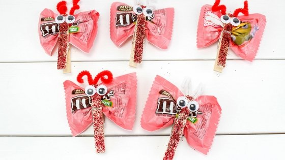 Valentine Candy Love Bugs Craft