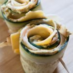Turkey and Cheese Cucumber Roll Ups