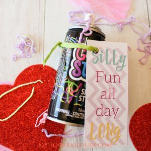 My kids love to take Valentines to school for their parties.  This year we decided to have a little fun with it and created Silly Fun Classroom Valentines. #valentinesday #classroomvalentines #kids #myhomebasedlife | Classroom Valentines | Non-Candy Valentine | Silly String Activity | #valentinesday | #valentineactivity | Kids Valentines |