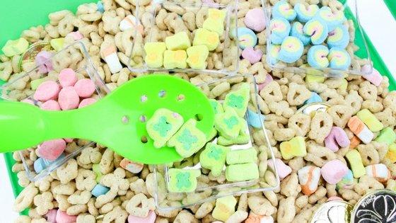 Lucky Charms Sensory Bin Kids Activity