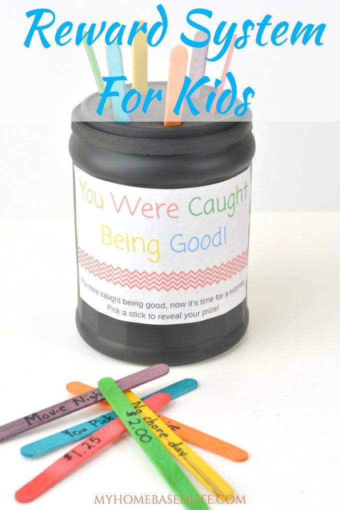 "Reward System for Kids Craft - ""I Got Caught Being Good"""