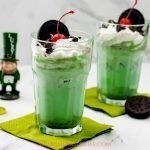Shamrock Cookies and Cream Milkshake Recipe