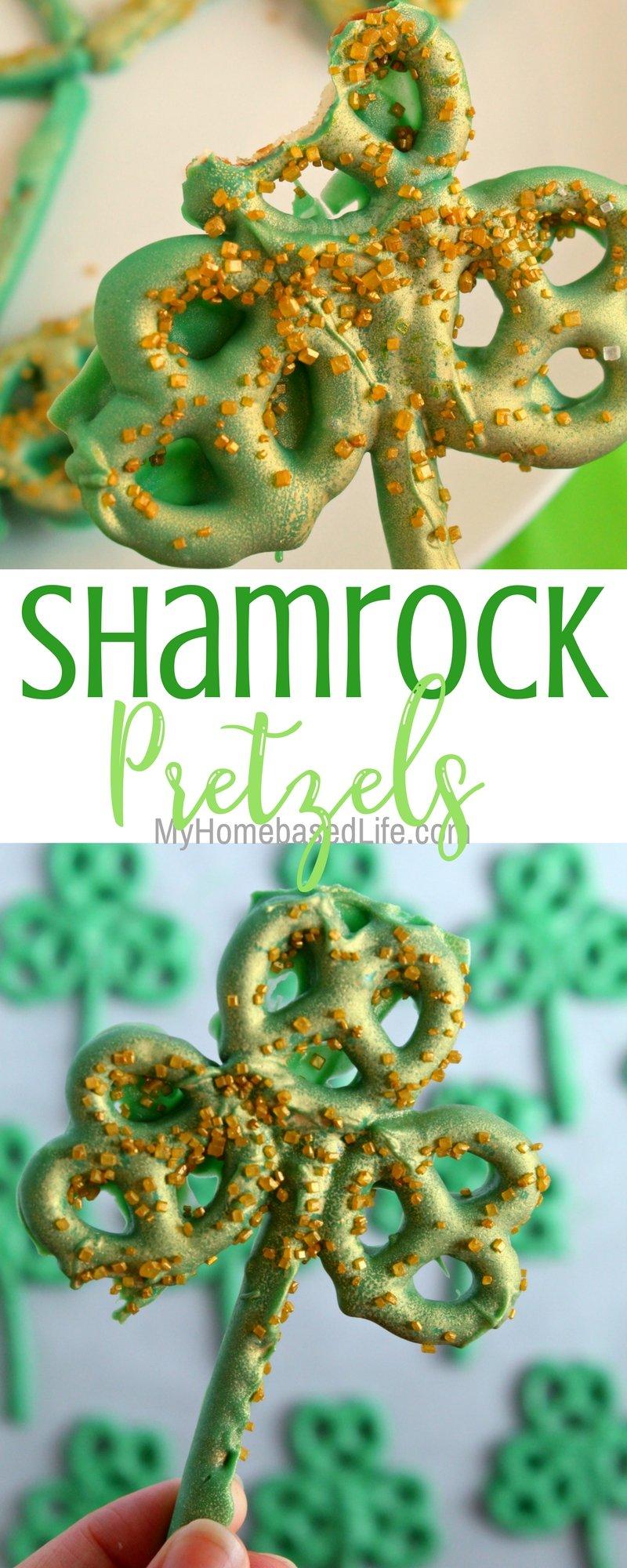 Shamrock Pretzel Treats